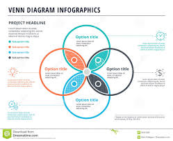Venn Diagram Website Venn Diagram With 4 Circles Infographics Template Design Vector