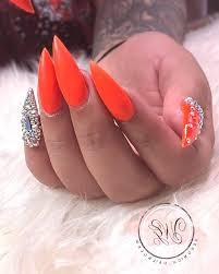 100 Fotografie Nové Oranžové Manikúry Trendy Trendy Nápady