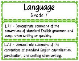 7th Grade Ela Standards Pocket Chart Printables Common Core
