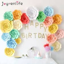 aliexpress com buy joy enlife 2pcs 20cm diy paper flowers