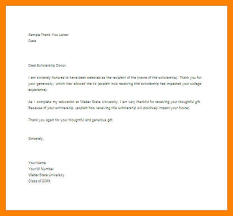how to write a scholarship acceptance letter scholarship thank you letter word doc example