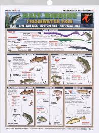 Bait Rigging Chart Freshwater Card Tl Br F1 9 99