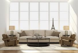 contemporary living room bright white design