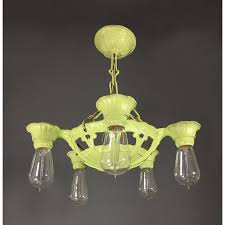antique lighting reproductions. antique polychromed lime green five light fixture lighting reproductions
