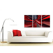 display gallery item 4 set of 3 abstract canvas wall art 125cm x 60cm 3006 display gallery item 5  on red canvas wall art uk with extra large abstract canvas prints uk set of three in red
