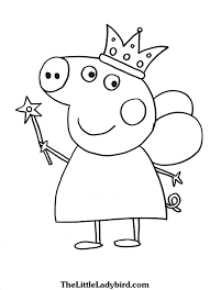 Small Picture Free Peppa Pig Coloring Pages TheLittleLadybirdcom