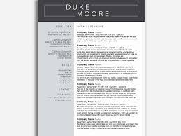 30 Fresh Modern Resume Template Word Free Resume Ideas