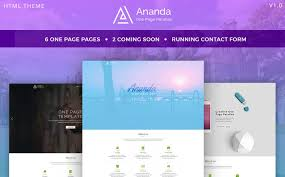 Parallax Website Template Classy Ananda One Page Parallax Website Template 28