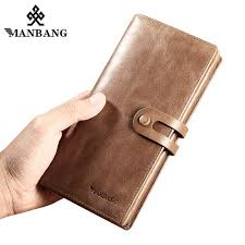 ManBang 2019 New Men Wallets <b>Genuine cow Leather Fashion</b> ...