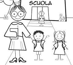 Scarica E Stampa Disegni Di Bambini A Scuola Da Colorare Disegni