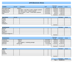 Event Budget Sample Event Budget Template For Excel Example Of Spreadsheet Selo L Ink
