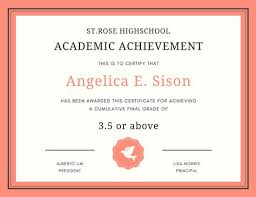 Orange And Cream Bordered Formal Academic Certificate Templates By