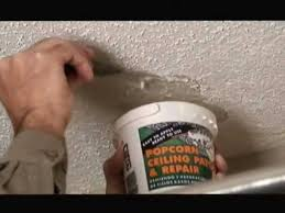 popcorn ceiling patch repair
