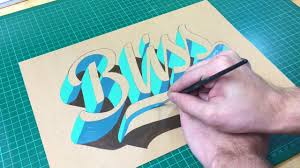 how to paint blissful 3d lettering