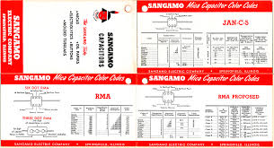 capacitor conversion chart cardboard reference charts antique radios and electronics
