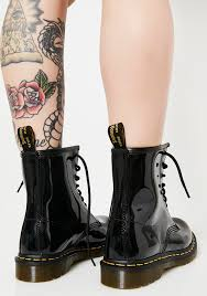 dr martens black patent 1460 8 eye boots