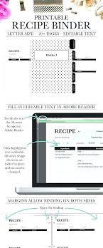 Free Printable Binder Templates Printable Recipe Book Template Recipe Binder Template