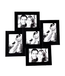 celestial wooden black wall photo frame collage 5 frames