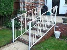 handrails for outdoor steps disabled outside uk