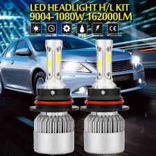 LED Lights <b>CREE COB H4 HB2</b> 9003 1080W 162000LM LED ...