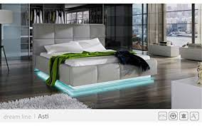 modern bed frame with storage. Exellent Frame WELLA Modern Bed King Size With Led Lights And Storage  Contemporary  Design Platform Throughout Frame With E