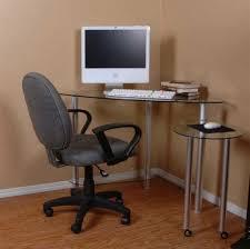 permalink to small glass corner computer desk