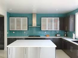 modern kitchen backsplash glass tile. Delighful Backsplash Aqua Glass Subway Tile Modern Kitchen Backsplash Outlet For  Proportions 3245 X 2408 For S