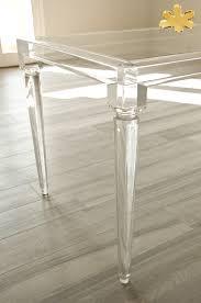 acrylic furniture lucite acrylic dining table tavoli pranzo in plexigl tavolo traspae in plexigl 02 mod impero tavolo plexiglas cm 180 x