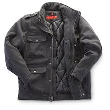 joe whistler wool blend m65 field jacket charcoal