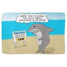 Funny beach towels Novelty Zazzle Funny Guilty Shark On Beach Towel Zazzlecom