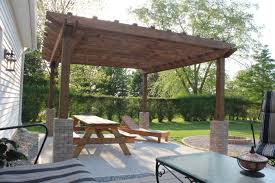 patio with fire pit and pergola. A DIY Back Yard Transformation Pergola Deck Fire Pit Pavers Over Cracked Concrete Patio With And T