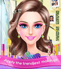 glam doll make over