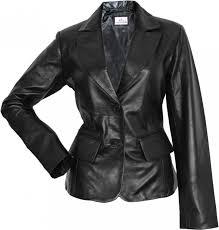 las leather jacket fashion lamb nappa leather colour black 001