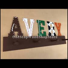 Nursery Coat Rack Sports Letters Hat Rack Coat Rack Hat Organizer Sports Nursery 85