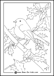Small Picture christmas tree with birds on it coloring pages Robin Colouring