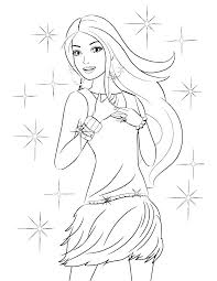 Printable Barbie Coloring Pages Barbie Coloring Sheets Free