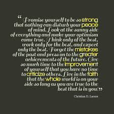 Promise Yourself To Be So Strong Quote Best of Picture Christian D Larson Quote About Optimism QuotesCover