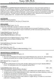 Sample Resume Doctor Physician Resume Sample General Practitioner