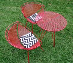 image of red retro outdoor furniture