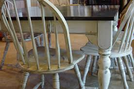 Distressed Kitchen Furniture Remodelaholic Kitchen Table Refinished With Distressed Look
