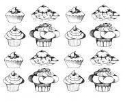 Small Picture CUPCAKE COLORING Pages Free Download Printable