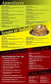 mexican food appetizers menu. Brilliant Appetizers Chicanou0027s Mexican Restaurant Inside Food Appetizers Menu