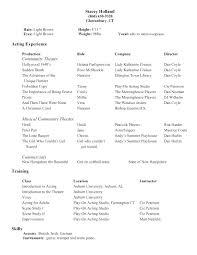Example Of Acting Resume Acting Acting Resume Builder Resume