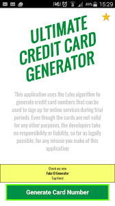 credit card generator ultimate free of android version m 1mobile