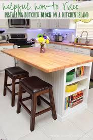 diy bookcase kitchen island. Helpful How-to Video Installing Butcher Block On A Kitchen Island Diy Bookcase U