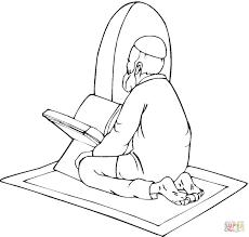 Moslem Is Aan Het Bidden Kleurplaat Gratis Kleurplaten Printen