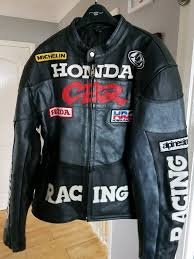 honda cbr leather racing jacket
