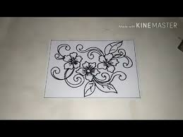 Cara menggambar bunga motif batik #35. Cara Menggambar Batik Motif Bunga 3 Youtube