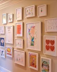 picture gallery display your kids art organized on the wall in frames  on wall frames art gallery with picture gallery display your kids art organized on the wall in