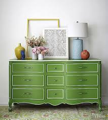 painted green furniture. Buffet Makeover - Green And White Painted Via BHG Furniture